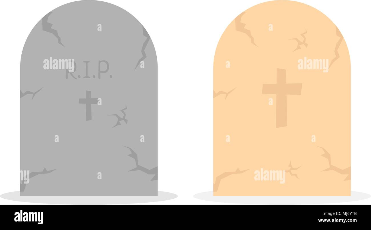 two simple tombstone icon - Stock Vector