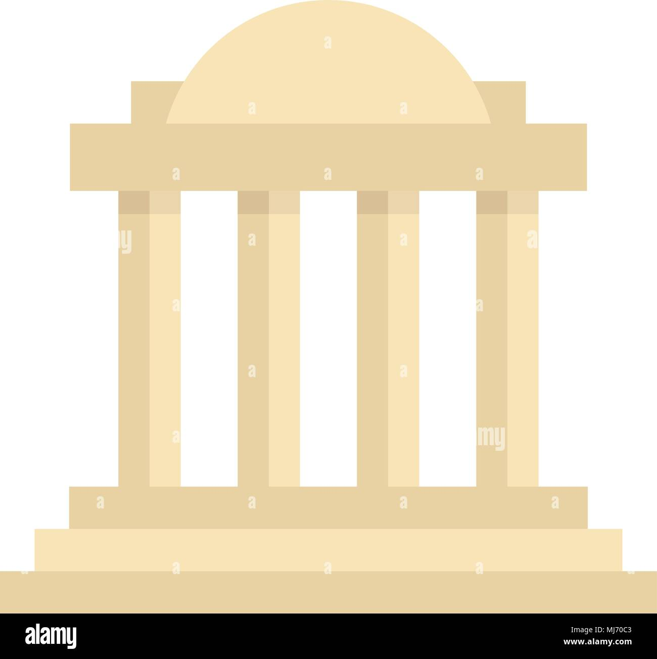 greek colonnade building with columns - Stock Vector