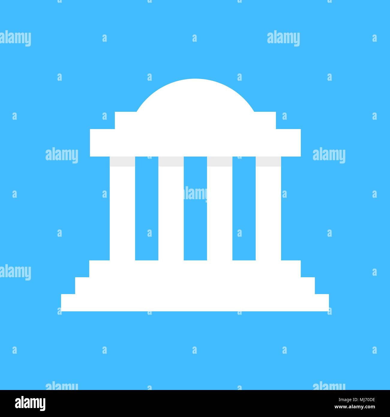 white greek colonnade building - Stock Vector
