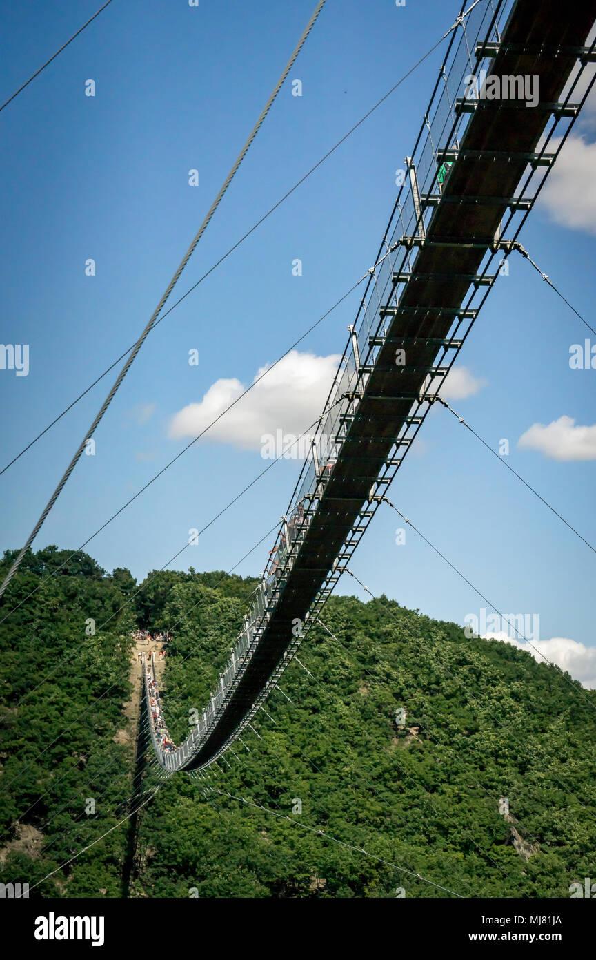 Suspensionbridge Geierlay - Stock Image