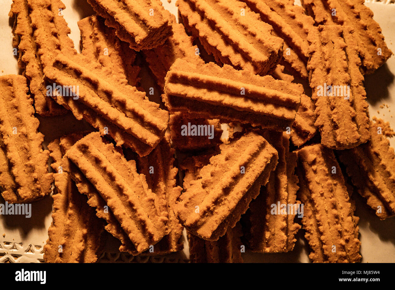 """Italy Tuscany """" Biscotti con ricci """" -Biscuits with curly Stock Photo"""