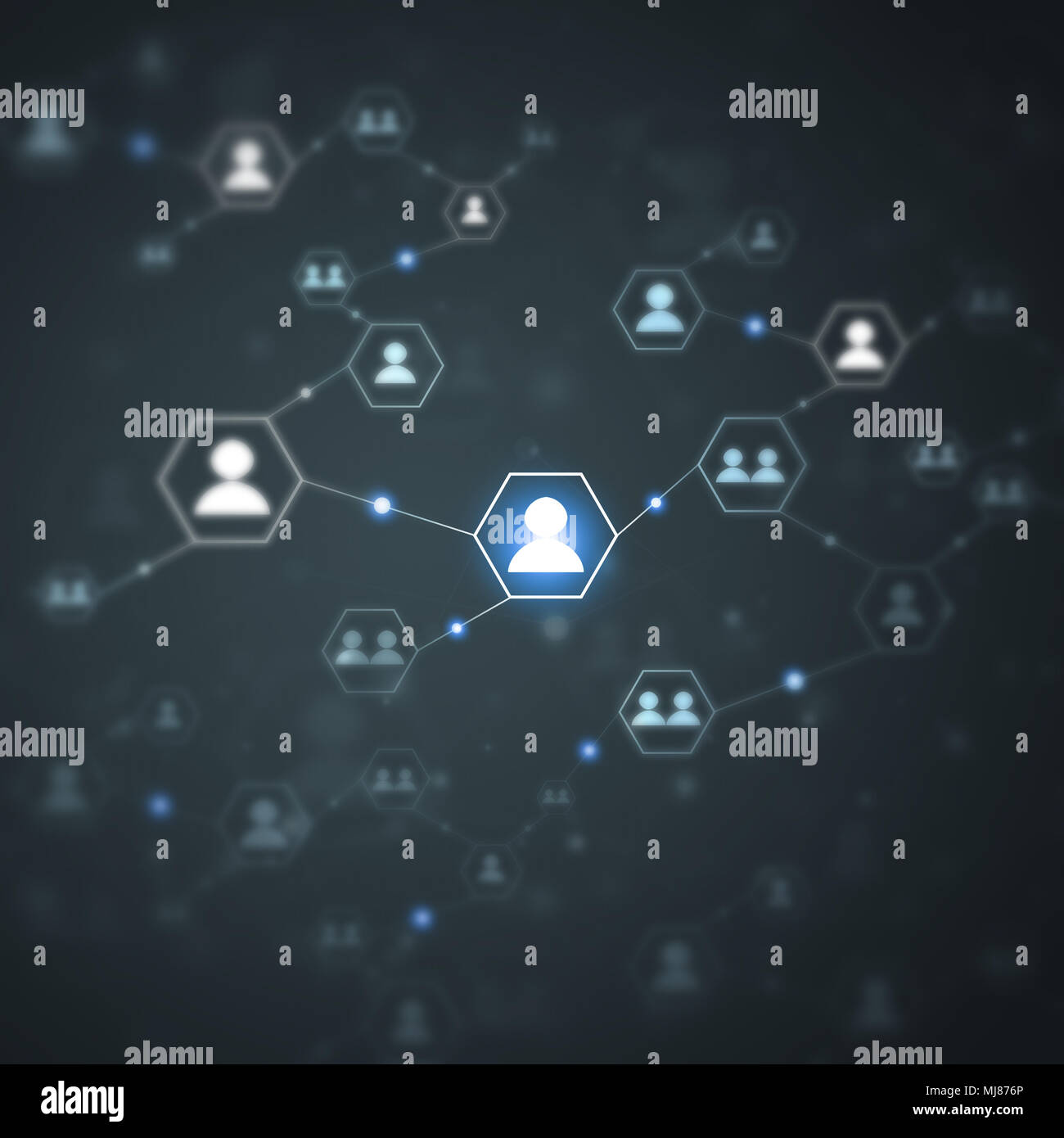 network concept global web people connections technology blurred background - Stock Image
