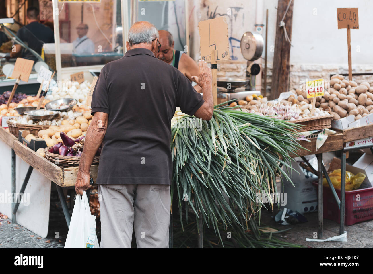 Palermo, Ballarò market, Sicily, Italy Stock Photo