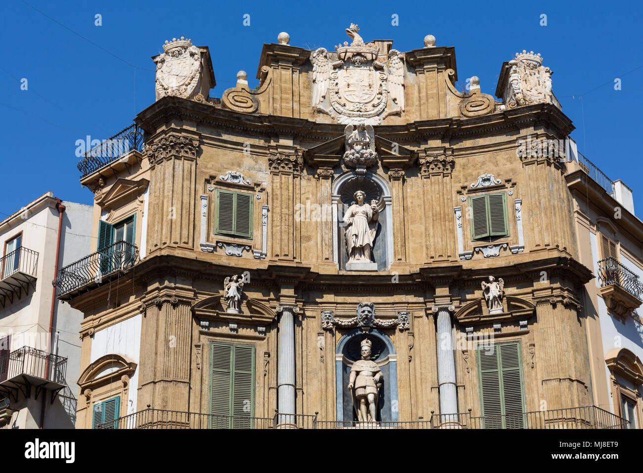 Quattro Canti, Palermo, Italy - Stock Image