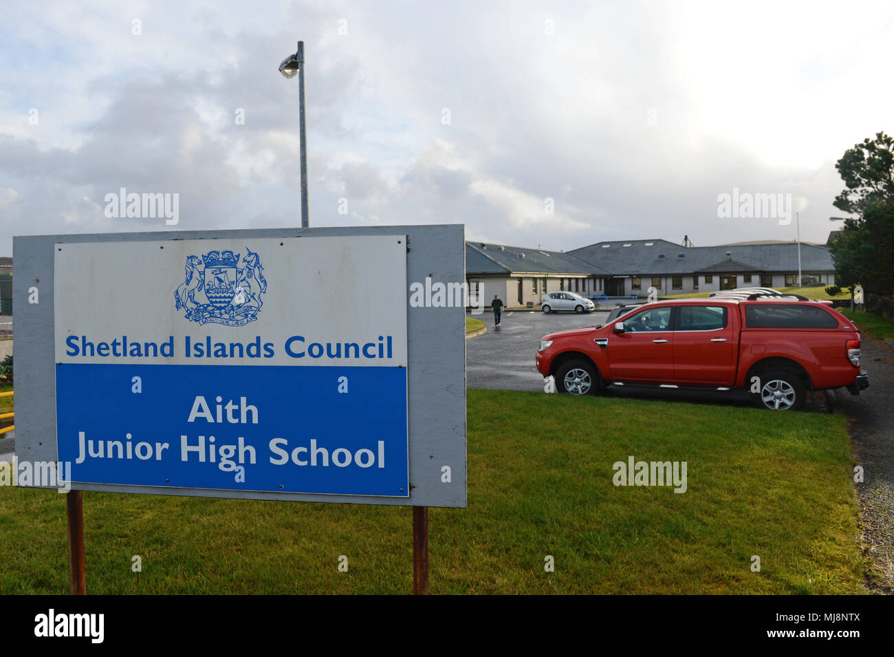 Aith Junior High School on the Shetland Islands - Stock Image