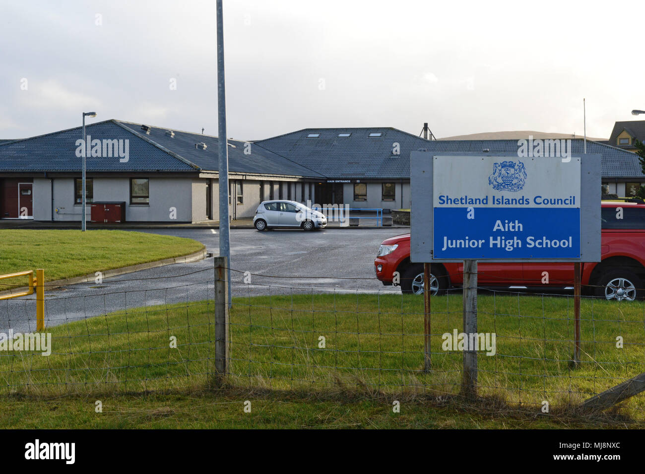 Aith Junior High School on the Shetland Islands - Stock Image