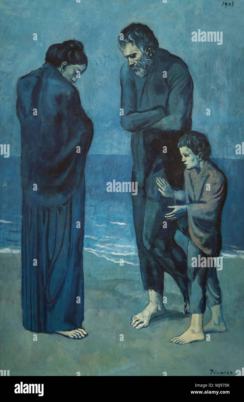 The Tragedy, Pablo Picasso, 1903, National Gallery of Art, Washington DC, USA, North America - Stock Image