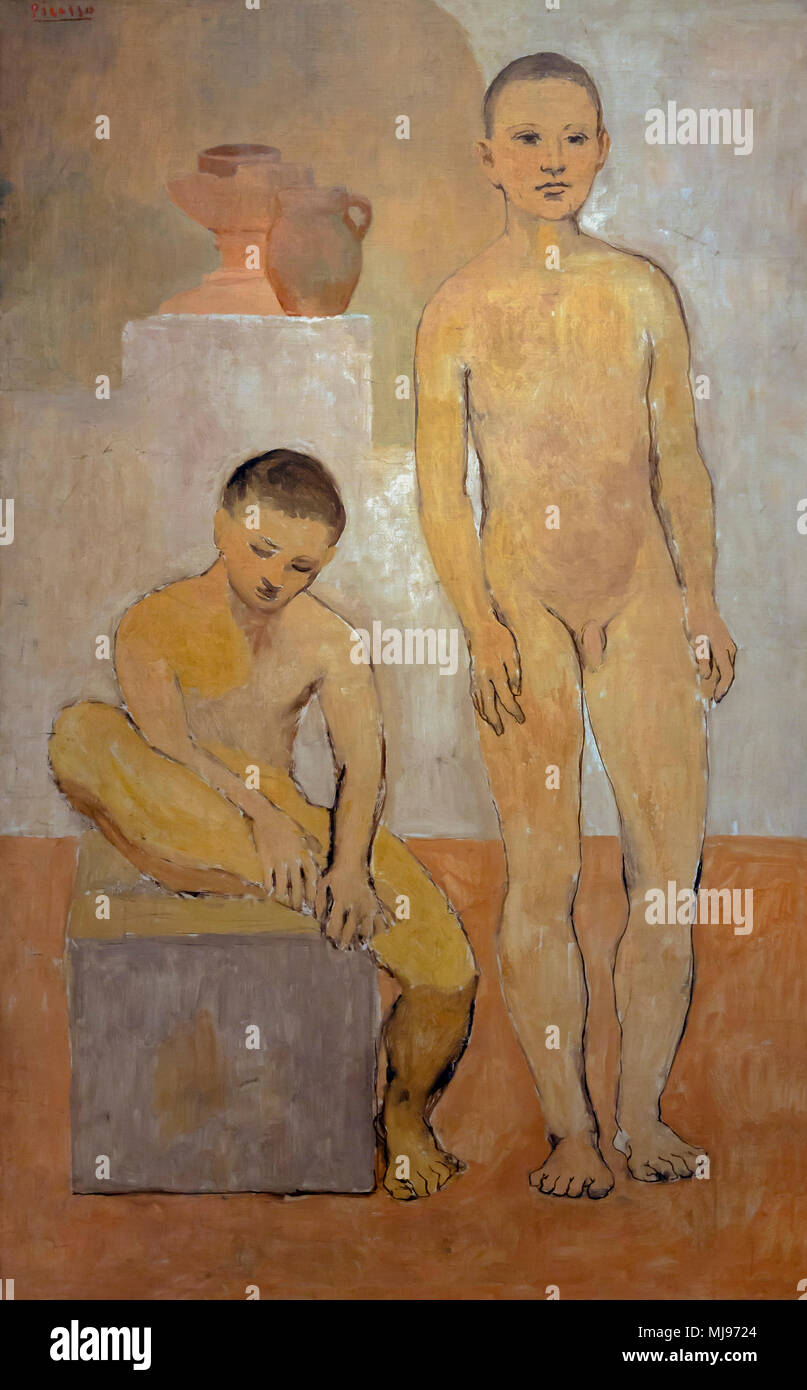 Two Youths, Pablo Picasso, 1906, National Gallery of Art, Washington DC, USA, North America - Stock Image
