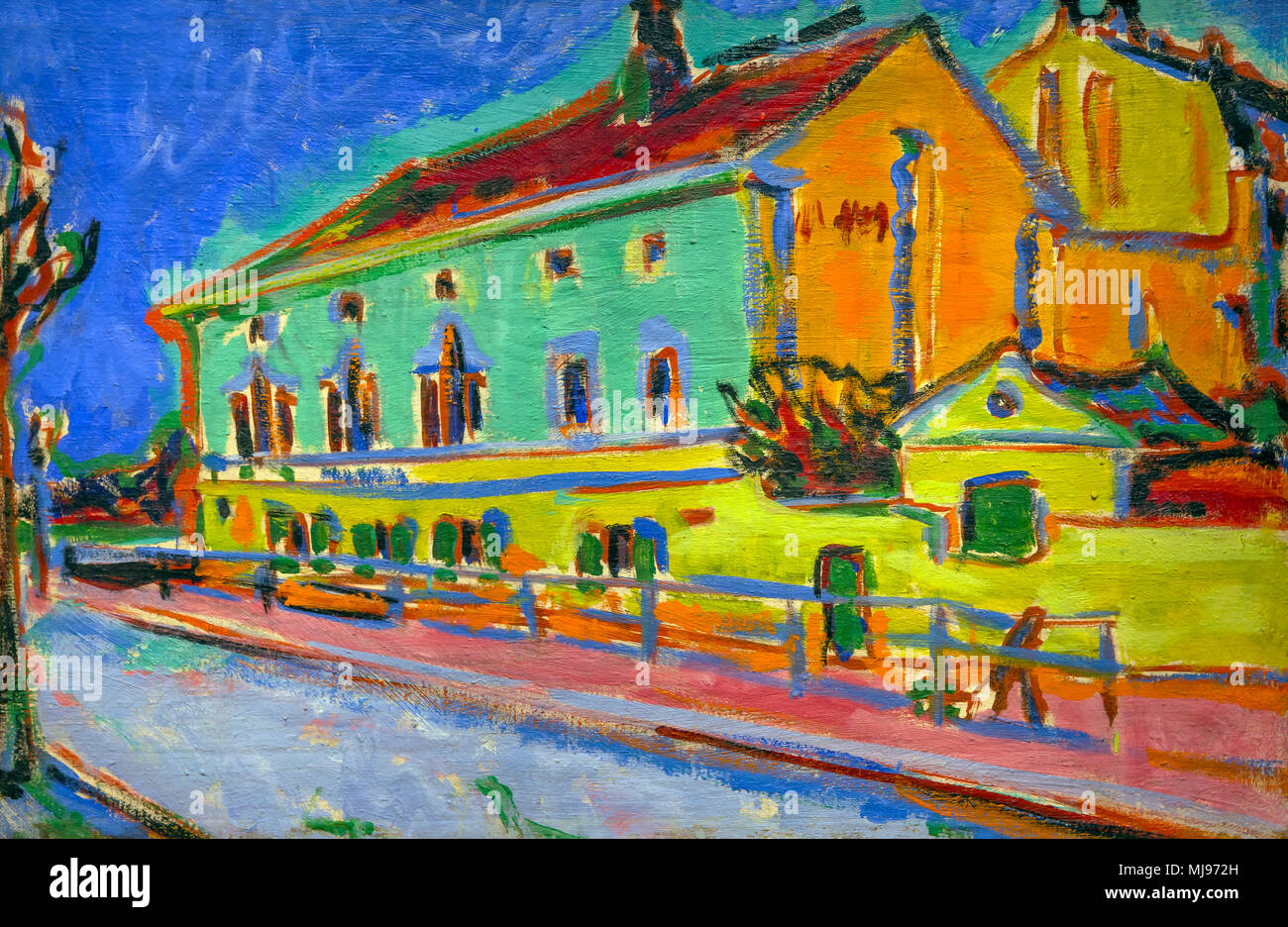 Dance Hall Bellevue, Ernst Ludwig Kirchner, 1909-1910, National Gallery of Art, Washington DC, USA, North America - Stock Image