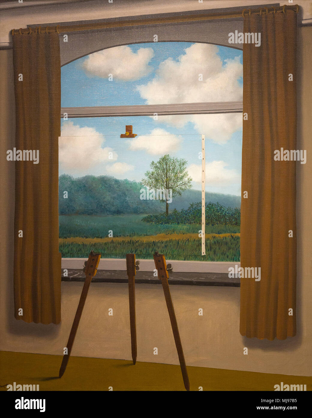 La Condition Humaine, The Human Condition, Rene Magritte, 1933, National Gallery of Art, Washington DC, USA, North America - Stock Image