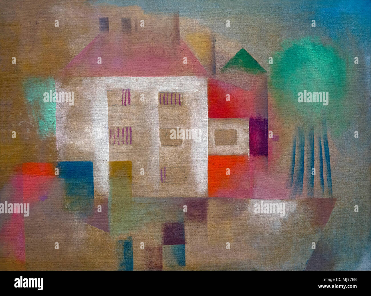 New House in the Suburbs, Paul Klee, 1924, National Gallery of Art, Washington DC, USA, North America - Stock Image
