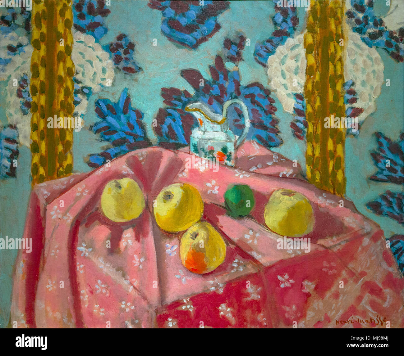 Still Life with Apples on a Pink Tablecloth, Henri Matisse, 1924, National Gallery of Art, Washington DC, USA, North America - Stock Image