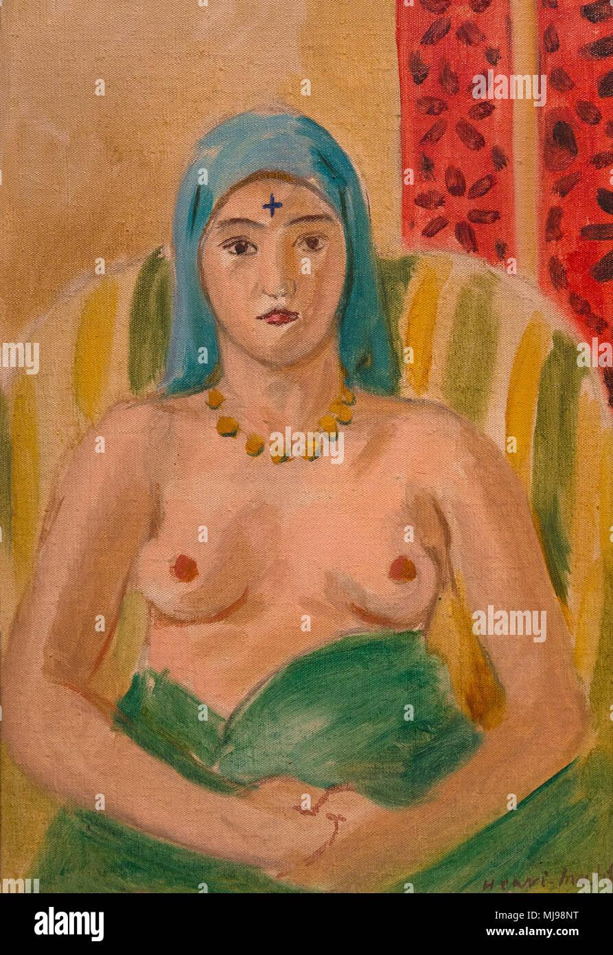 Odalisque, Half-Length, The Tattoo, Henri Matisse, 1923, National Gallery of Art, Washington DC, USA, North America - Stock Image