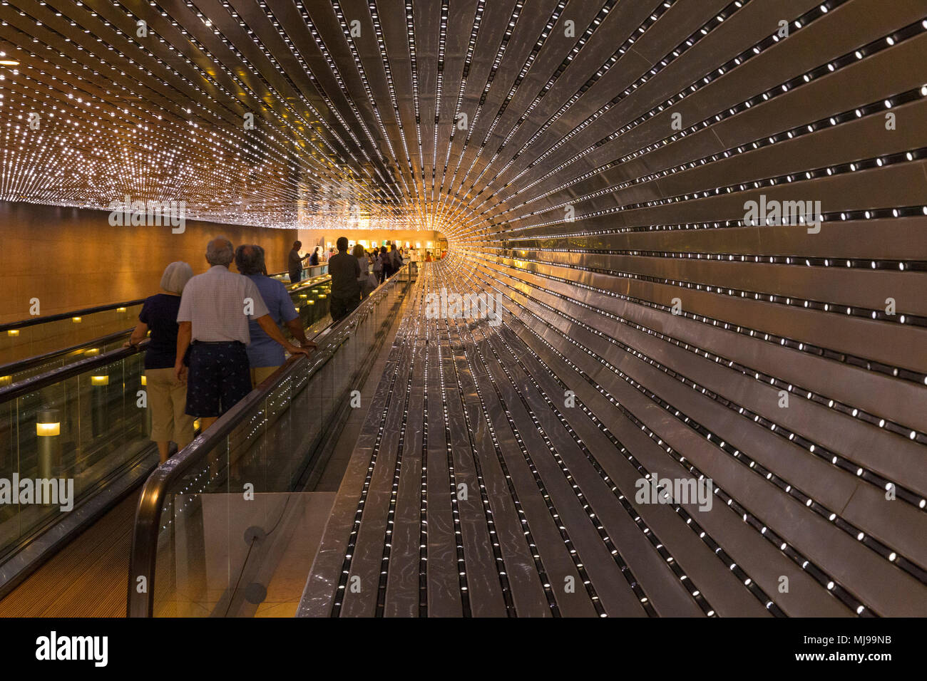 Multiverse, LED light installation, Leo Villareal, 2008, connecting East and West Builldings, National Gallery of Art, Washington DC, USA, North Ameri - Stock Image