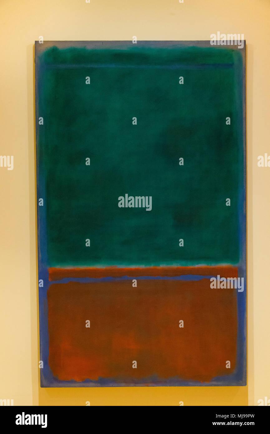 Green and Maroon, Mark Rothko,  1953, Phillips Collection, Washington DC, USA, North America - Stock Image