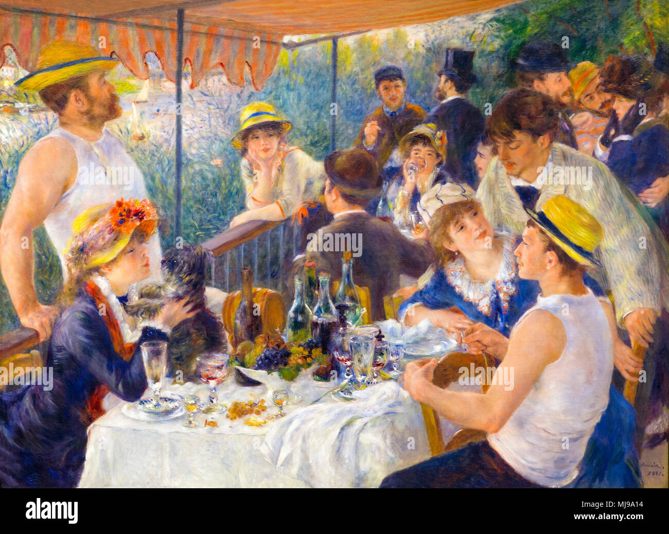 Luncheon of the Boating Party, Pierre-Auguste Renoir, 1880-1881, Phillips Collection, Washington DC, USA, North America - Stock Image