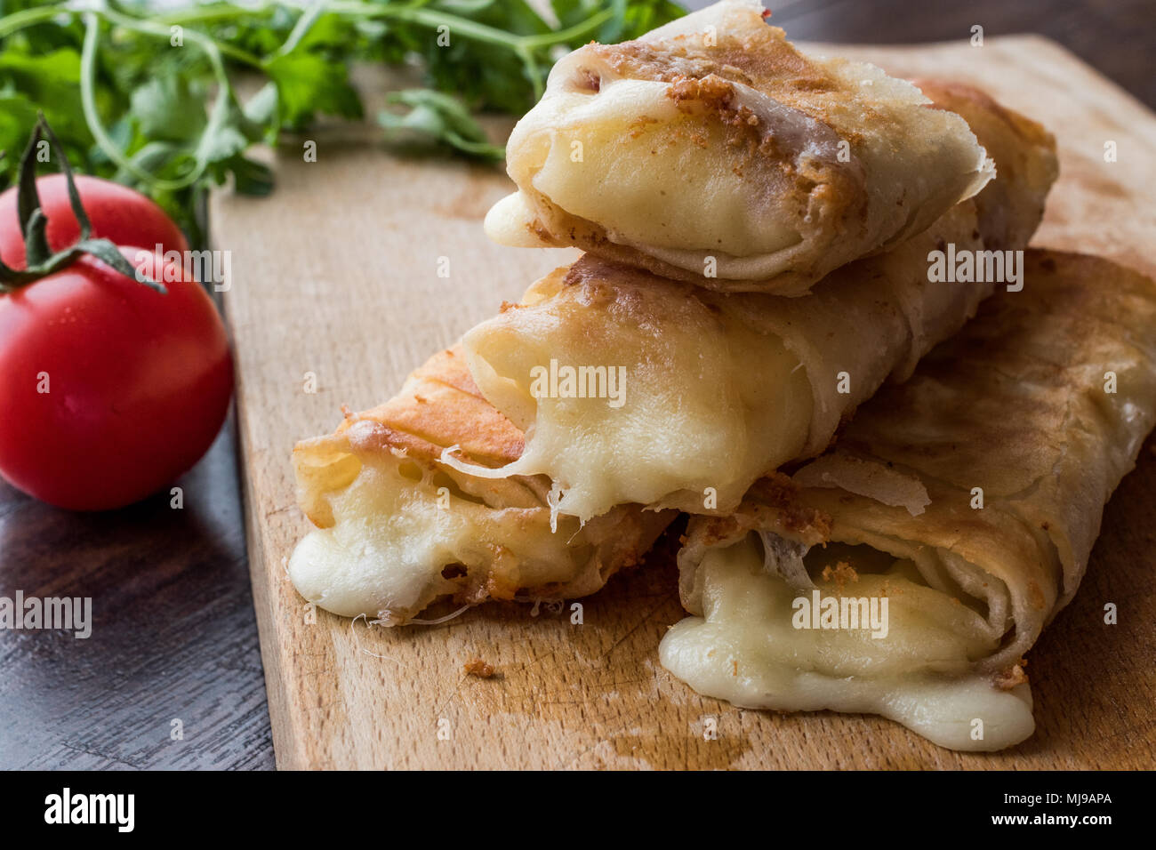 Fried Melted Feta Cheese On High Resolution Stock Photography And Images Alamy