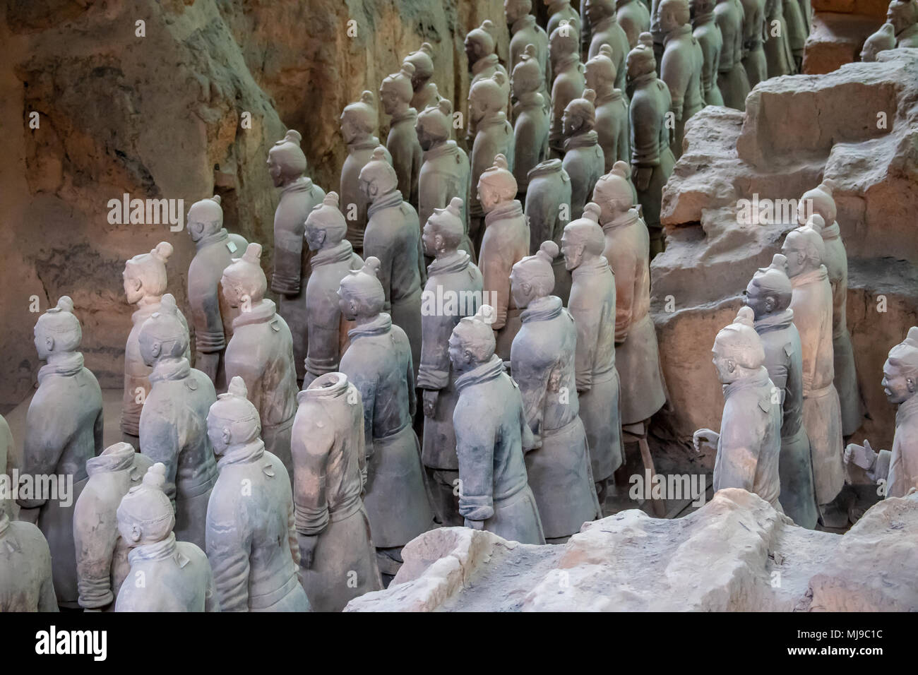 Terra Cotta Soldiers in Xian, China - Stock Image