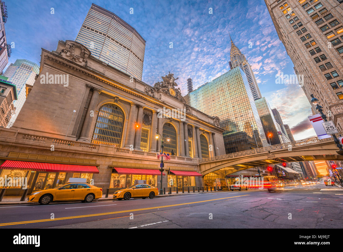 New York, New York, USA at Grand Central Terminal in Midtown Manhattan in the morning. - Stock Image