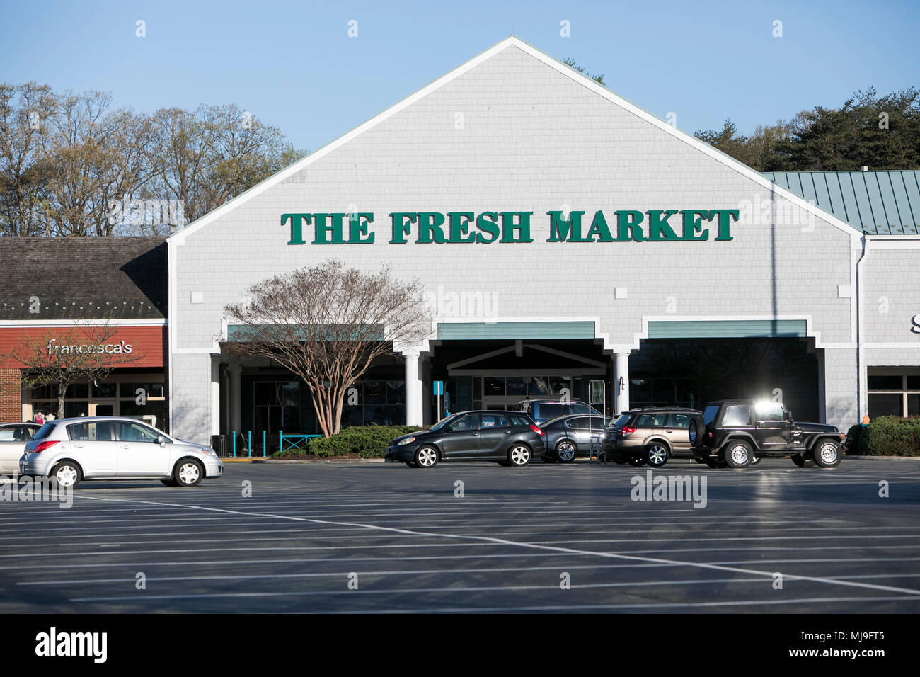 A logo sign outside of a The Fresh Market retail grocery store in Annapolis, Maryland on April 29, 2018. - Stock Image