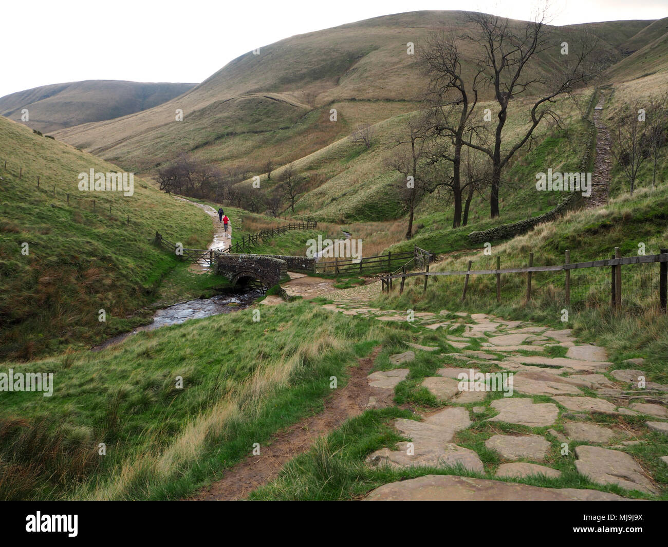 Jacobs Ladder footpath in Edale, Derbyshire,UK - Stock Image