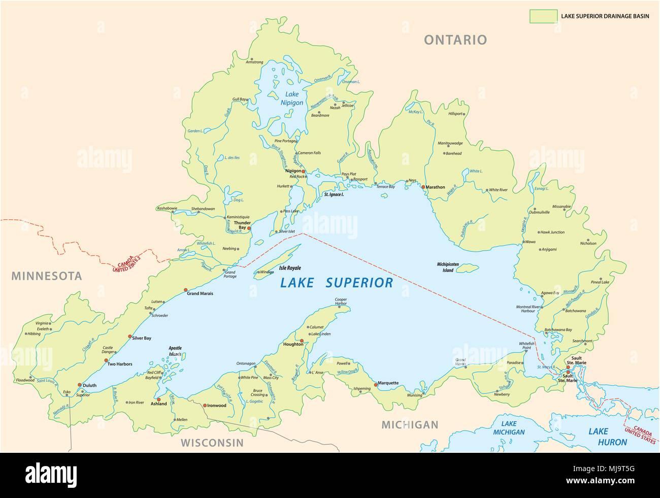 Map Of Lake Ontario Stock Photos & Map Of Lake Ontario Stock Images ...