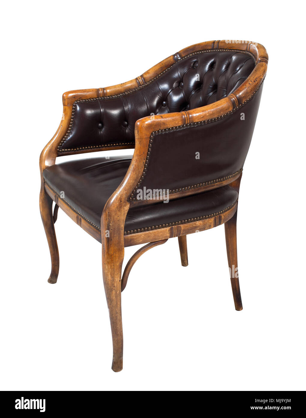 Elegance armchair isolated on white background. - Stock Image