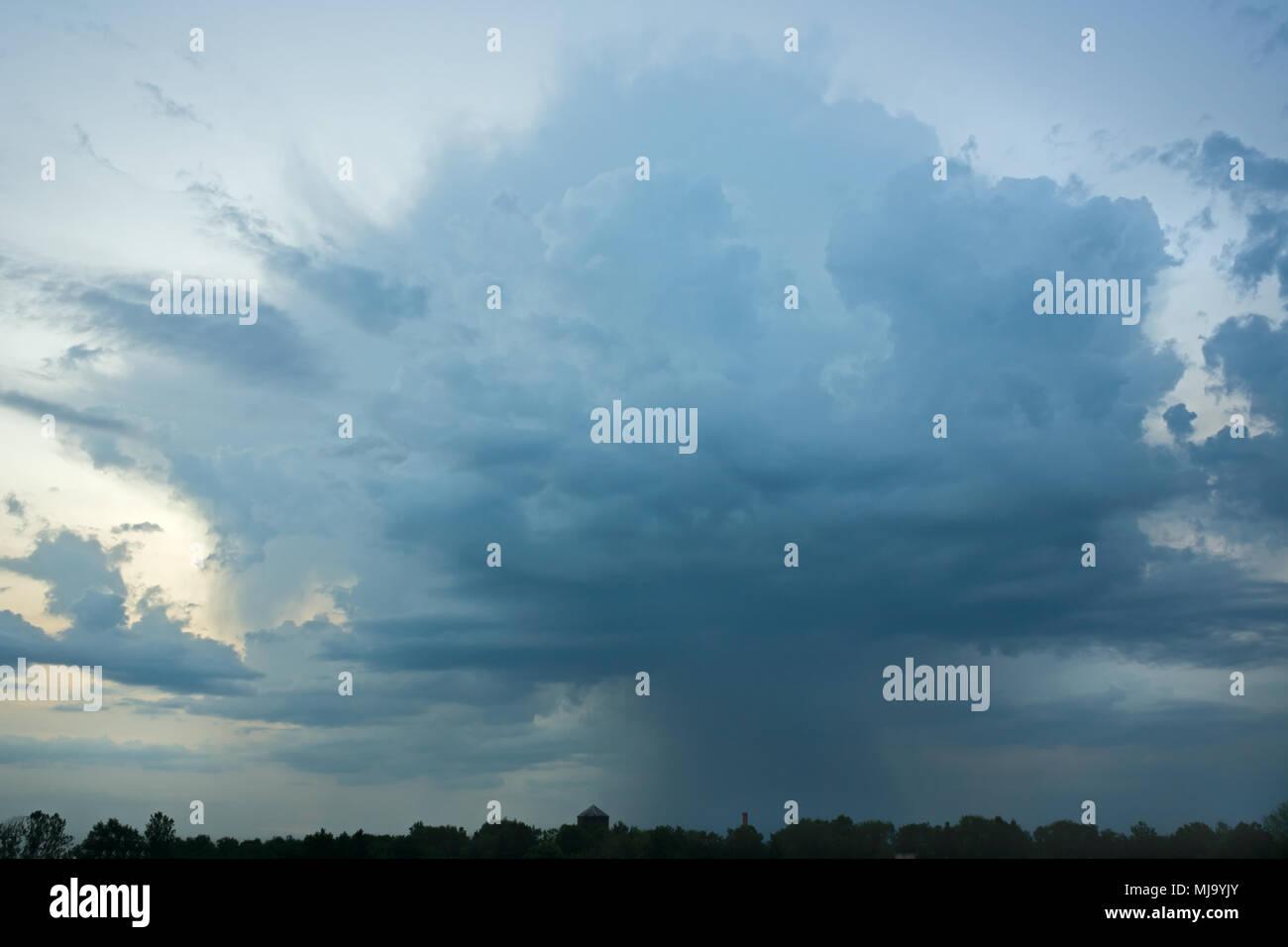 A beautiful storm cloud, rained by rain. - Stock Image