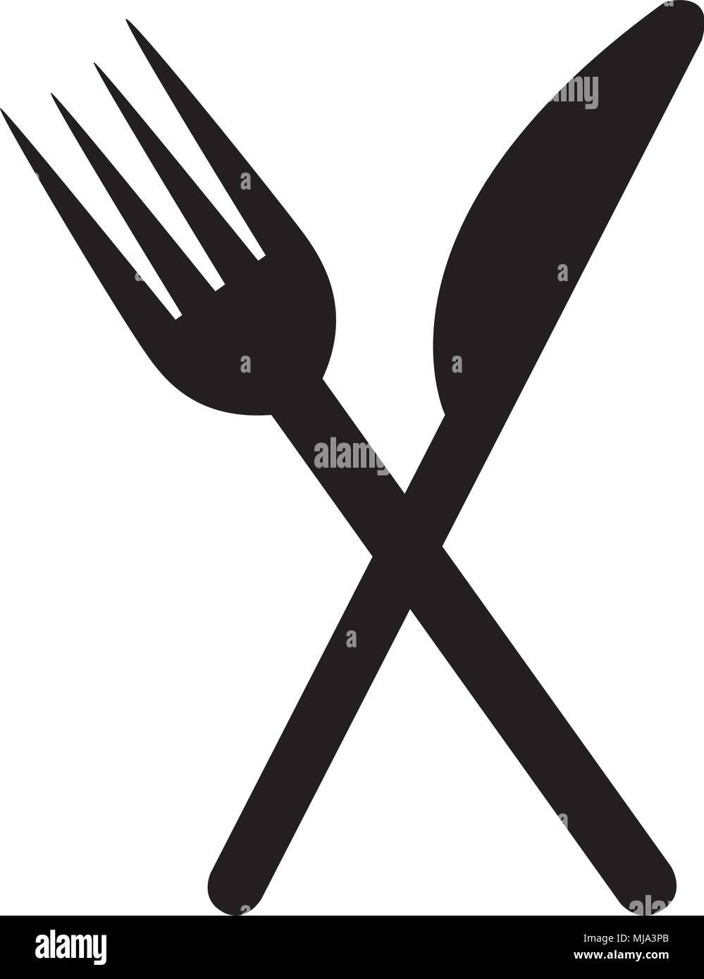 Restaurant Fork And Knife Symbol Pictogram Design Vector
