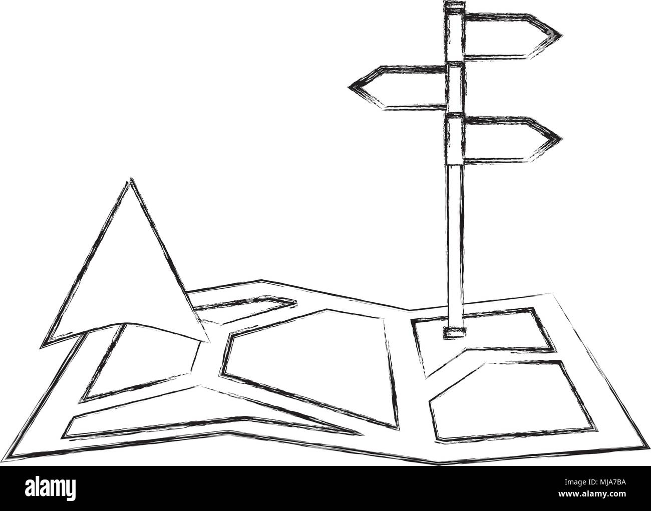Gps Navigation Map Arrow And Stand Position Image Vector Illustration Sketch Stock Vector Image Art Alamy Download 20,462 hand drawn arrow free vectors. alamy