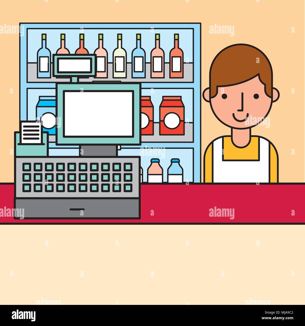 Cashier Cartoons: Cashier Stock Vector Images