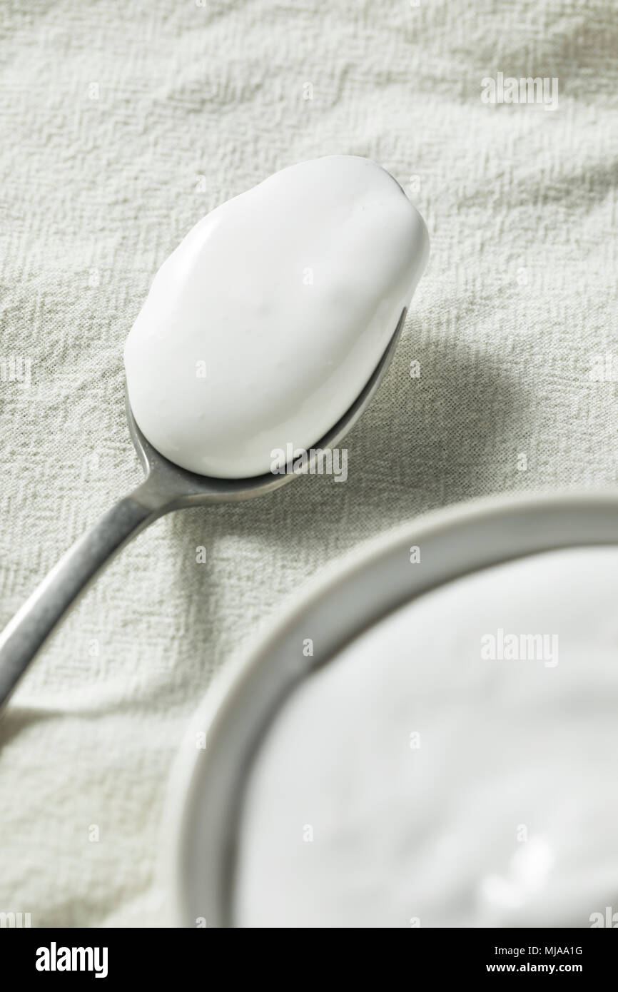 Sweet Sticky Marshmallow Fluff Spread in a Bowl - Stock Image