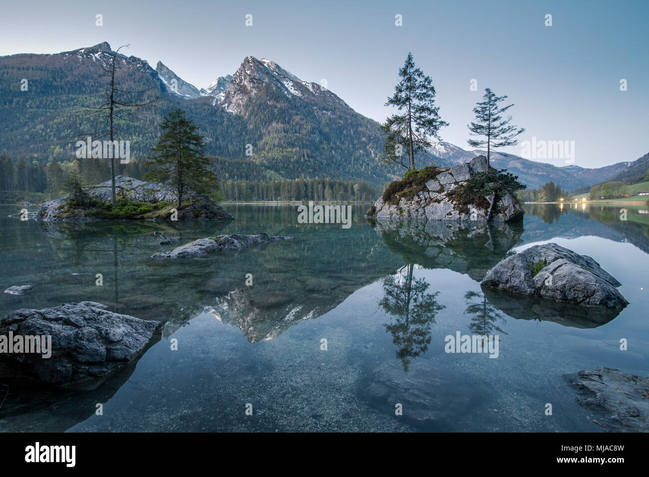 Lake in the mountains - Stock Image
