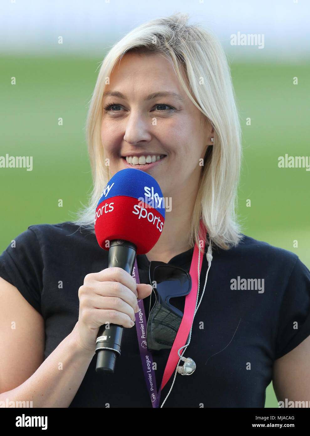 Sky Sports presenter Kelly Cates before the Premier League