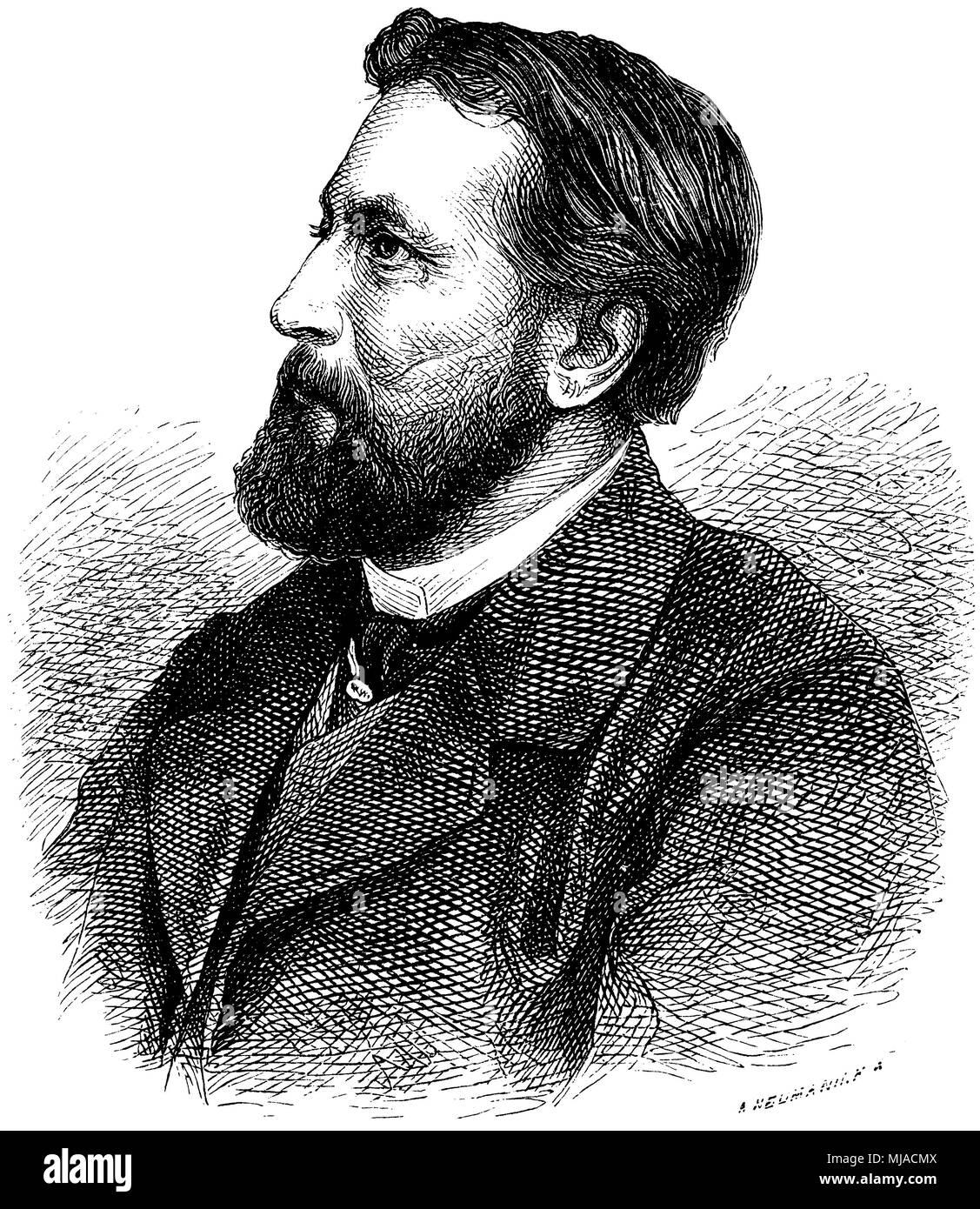 Oskar Freiherr von Redwitz (born June 28, 1823 ), Stock Photo