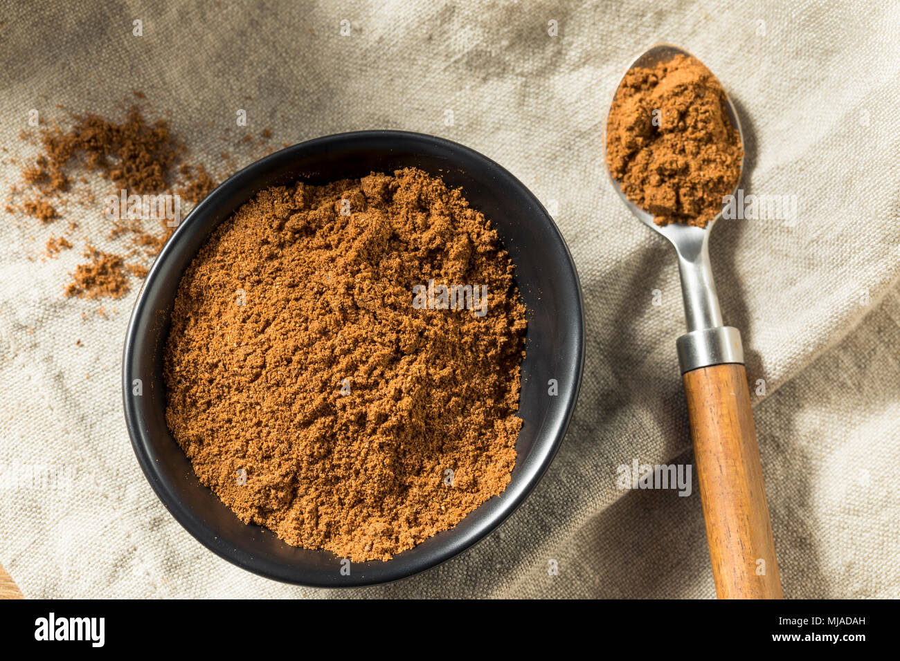 Organic Garam Masala Indian Spice in a Bowl - Stock Image