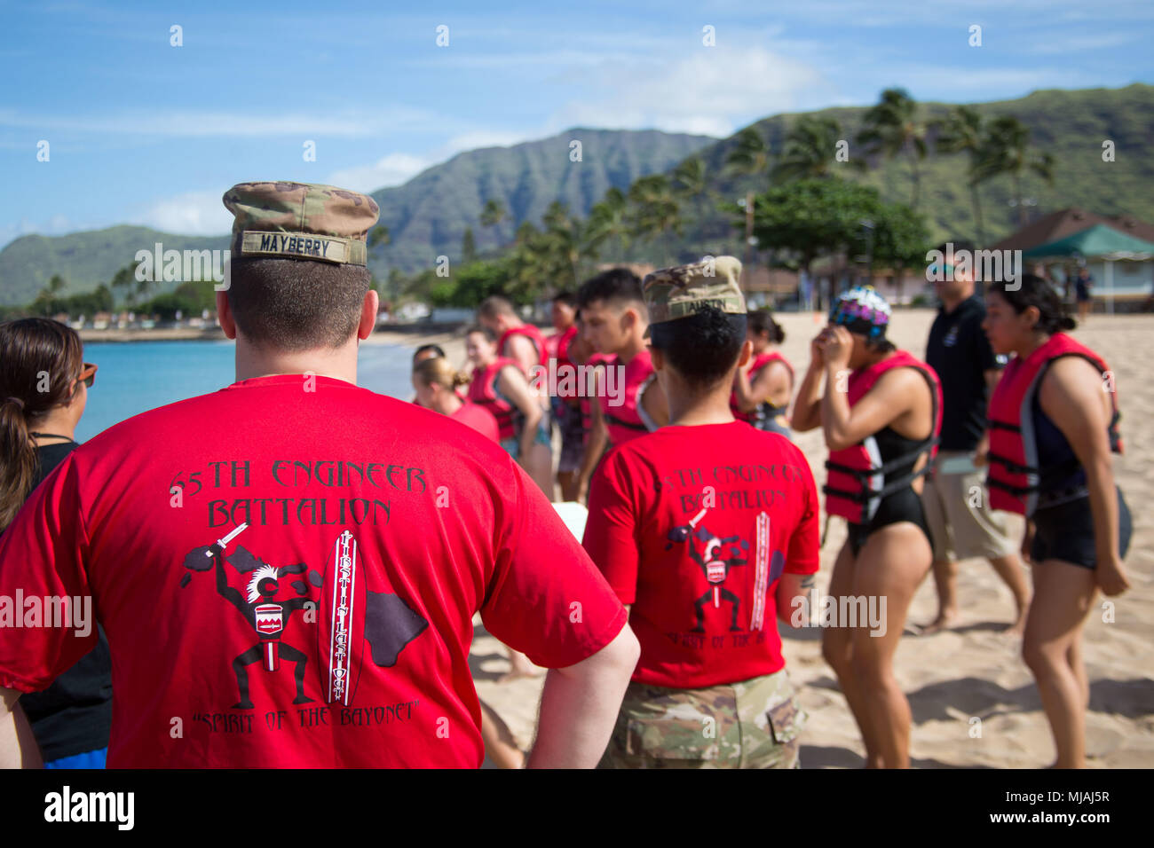 Soldiers With 65th Brigade Engineer Battalion Participated As Safeties During The 13th Annual Waianae Adventure Challenge At Pililaau Army Recreation Center