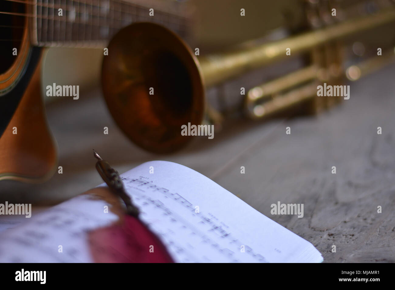 Writing songs - Stock Image
