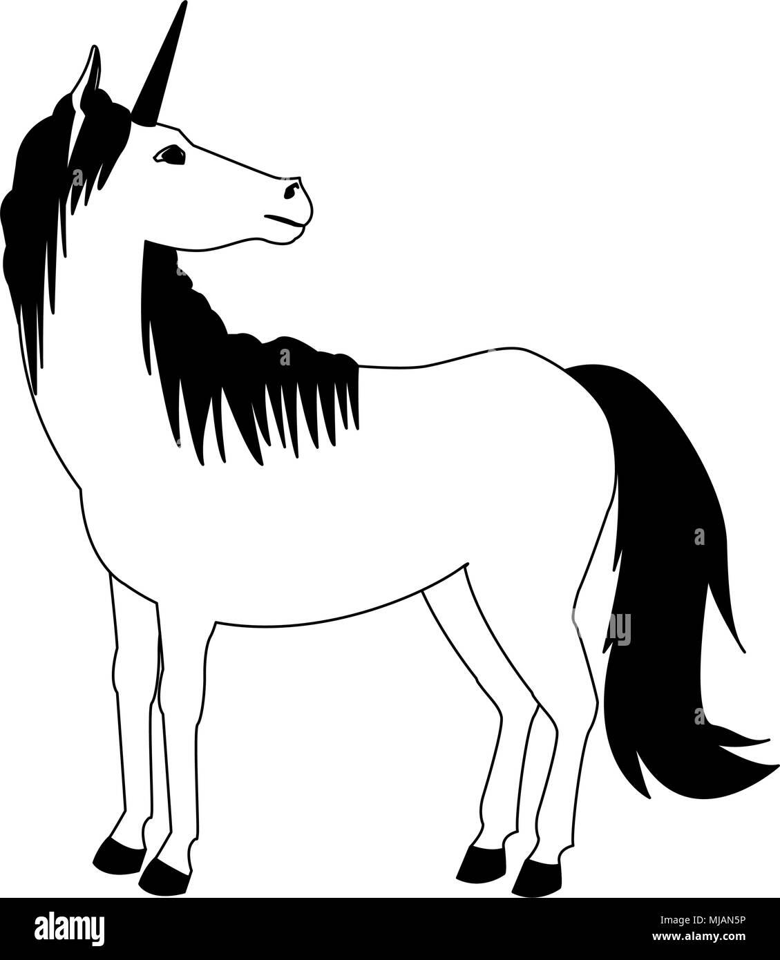 Cartoon Unicorn Black And White Stock Photos Amp Images Alamy
