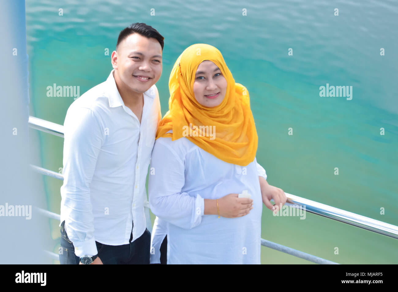 Lovely Couple - Taman Tasik Kepong, Kuala Lumpur - Stock Image