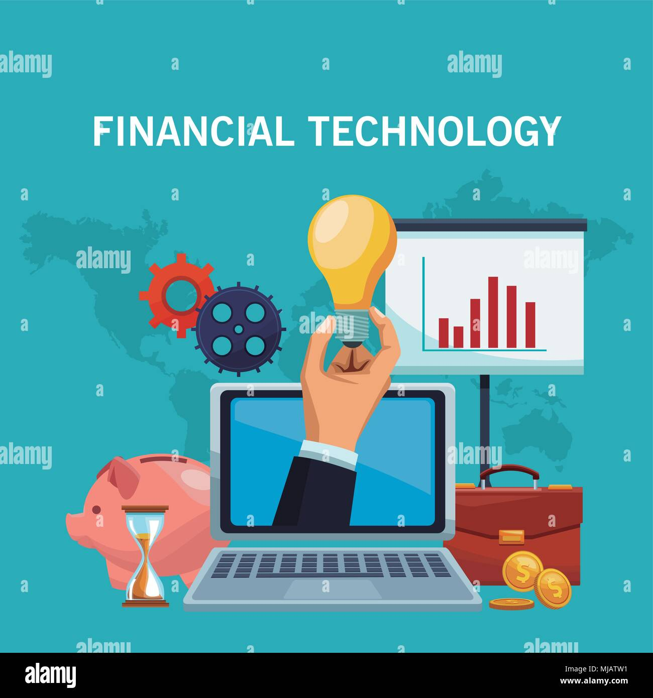 Financial technology concept - Stock Image
