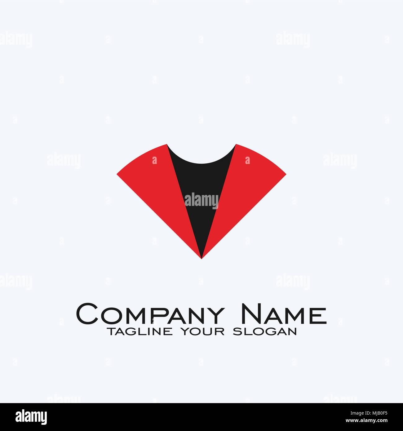 Logo Design Letter V Logo Business Logo With Black Red Color Stock