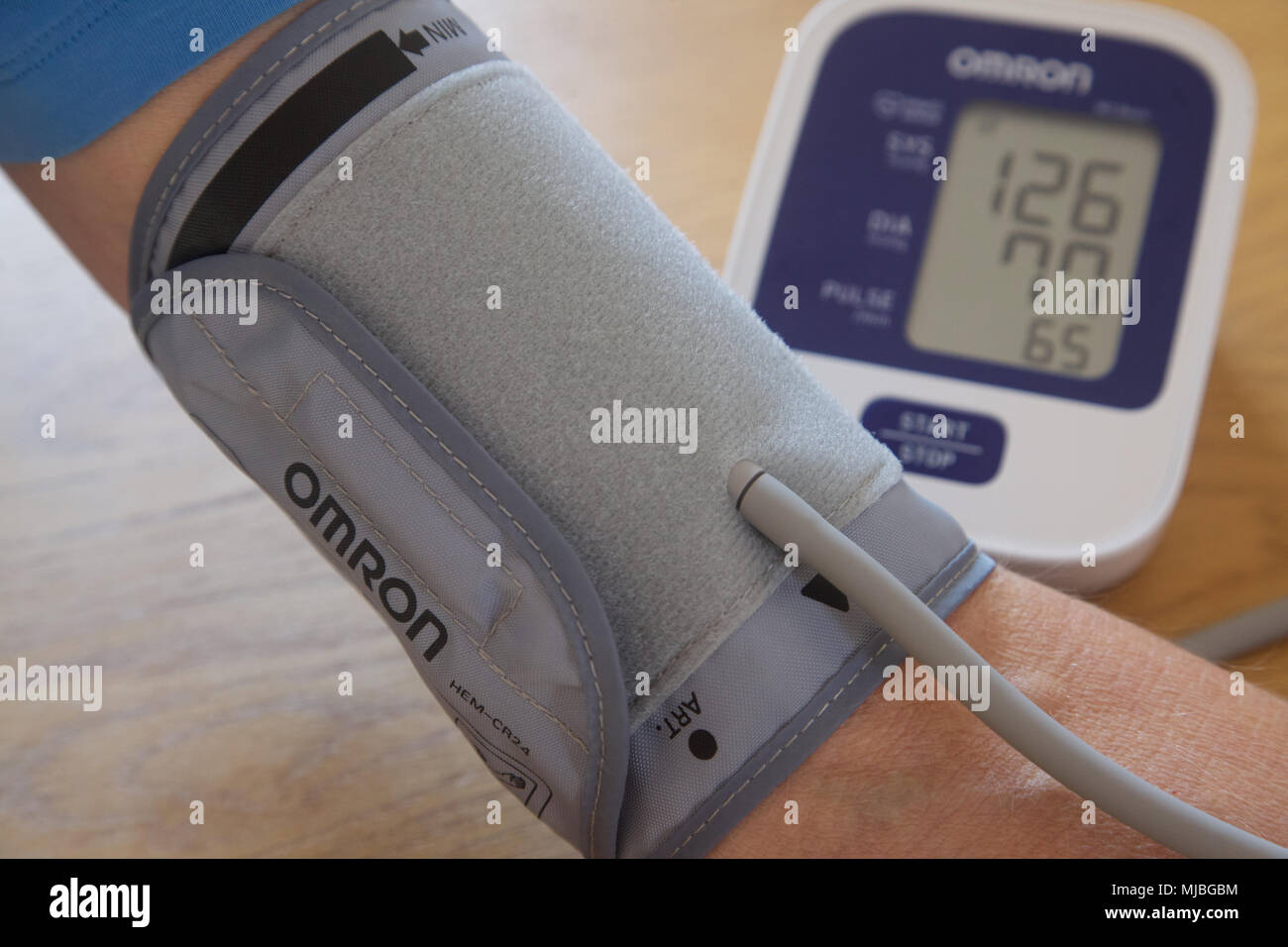 A blood pressure machine for home use. - Stock Image