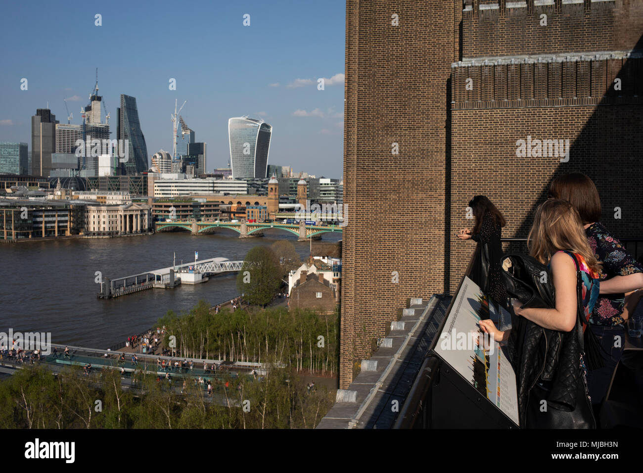 View From The Terrace At Tate Modern Gallery Of Contemporary