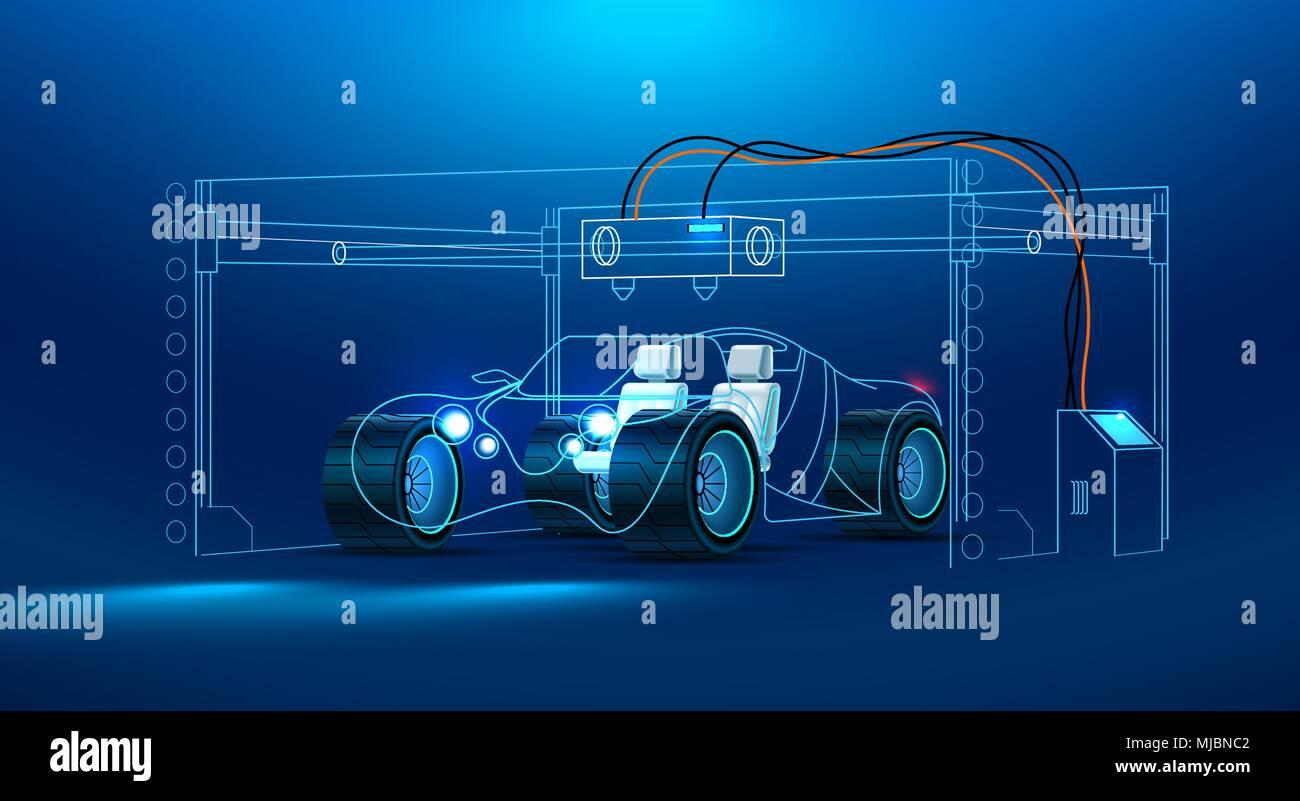 D Printing Exhibition Billingsgate : 3d printing car stock photos & 3d printing car stock images alamy