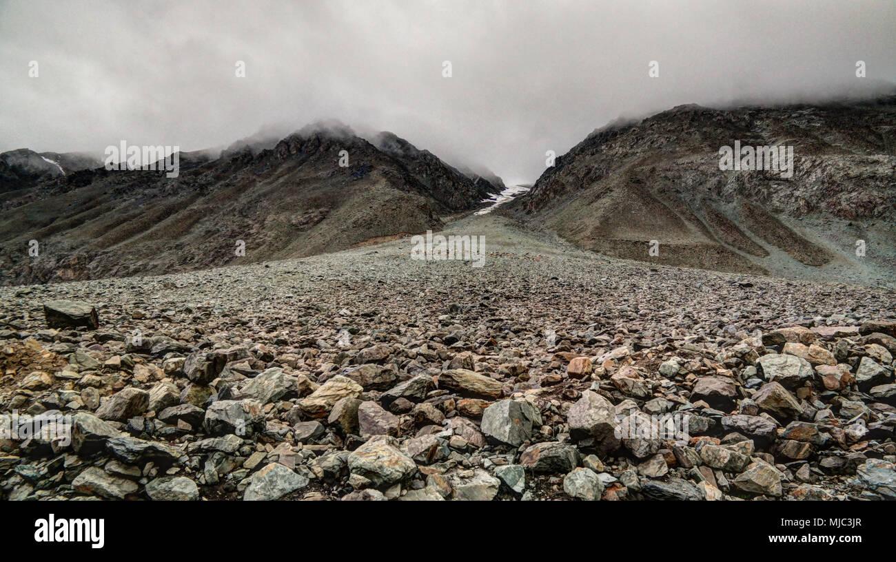 Panorama of Yasin Valley, Gilgit-Baltistan Province, Pakistan Stock Photo