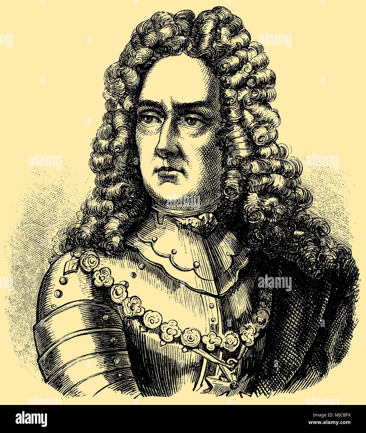 John Churchill , Duke of Malboroughr (born 5./24 . June 1650 , died July 17, 1722 ), - Stock Image