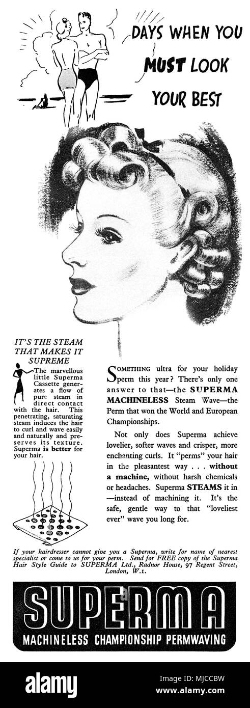 Vintage Hairstyle Ad Stock Photos Vintage Hairstyle Ad Stock