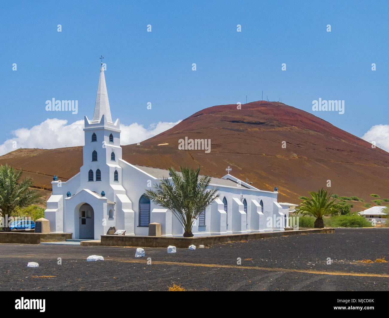 ascencion, a remote little Island in the middle of the atlantic ocean - Stock Image