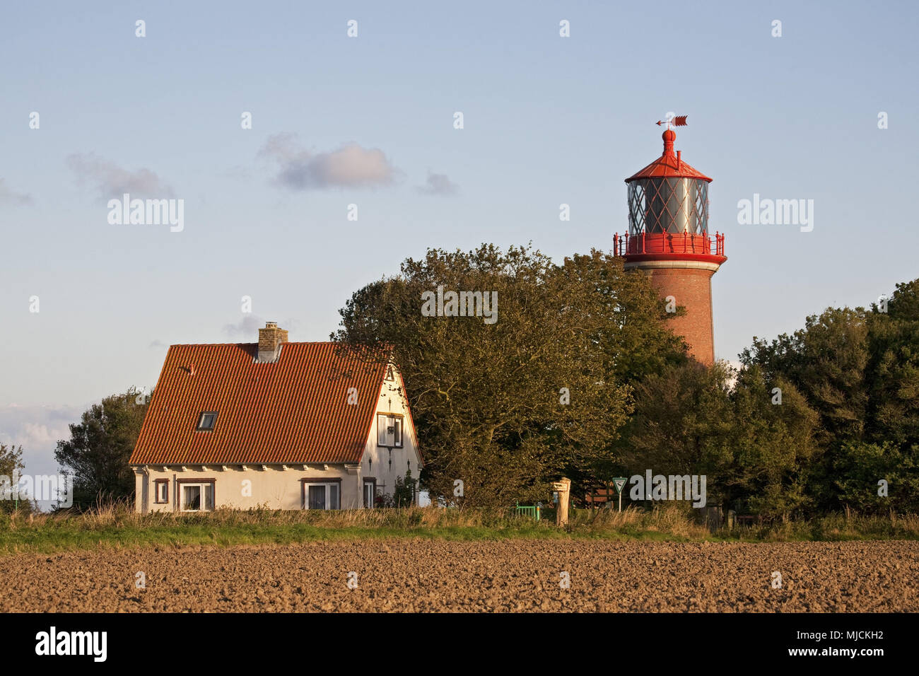 Lighthouse Staberhuk, island Fehmarn, Schleswig - Holstein, North Germany, Germany, Stock Photo